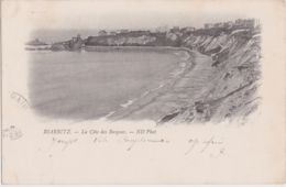 Bv - Cpa BIARRITZ - La Côte Des Basques (écrite En 1899, Cachets Biarritz Et Gand) - Biarritz