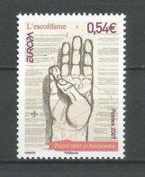 ANDORRE 2007 N° 640 NEUF** - Andorra Francese