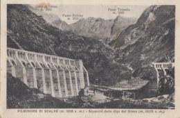 VILMINORE DI SCALVE-BERGAMO-SQUARCIO DELLA DIGA DEL GIANO-CARTOLINA VIAGGIATA IL 6-3-1932 - Bergamo