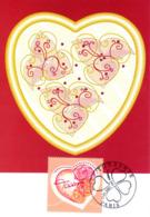 """"""" SAINT VALENTIN / COEURS DE TORRENTE / AMOUR """" Sur Carte Maximum De 2003. N° YT 3539 CM - Maximum Cards"""