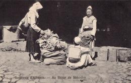 SOUVENIR D'ALBANIE : AU BAZAR De SHKODRA - ANNÉE / YEAR ~ 1910 - RRR ! (ad034) - Albania