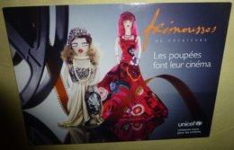 """Carte Postale édition """"Cart'Com"""" - Frimousses De Créateurs - Unicef - Les Poupées Font Leur Cinéma - Publicité"""