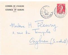 Conseil De L'europe, Council Of The European, Europarat Raad Van Europa  20.10.1955 Strasbourg, Strasburgo - Poststempel (Briefe)