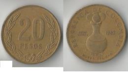 COLOMBIE  20 PESOS 1982 - Kolumbien