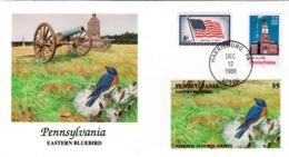 FDC   USA   Birds  /    Lettre De Première Jour, L'ETATS-UNIS, Oiseaux  1988 - Sperlingsvögel & Singvögel