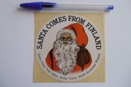 "Autocollant Stickers - Père NOËL / SANTA CLAUS ""SANTA COME FROM FINLAND"" ARTIC CIRCLE 96930 ROVANIEMI FINLAND - Stickers"
