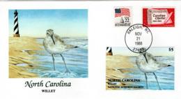 FDC   USA   Birds  /    Lettre De Première Jour, L'ETATS-UNIS, Oiseaux  1988 - Möwen