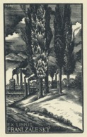 Ex Libris Frant. Zalesky- Antonin Dolezal - Ex-libris