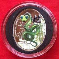 "Niue 1 Dollar 2013 ""Lunar Calendar - Chinese Snake"" Colored Ag PROOF - Niue"