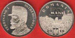 "Romania 50 Bani 2019 ""King Ferdinand I The Unifier"" UNC - Romania"