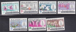 Malaysia, Penang, Scott #67-73, Mint Hinged, Orchids, Issued 1965 - Malaysia (1964-...)