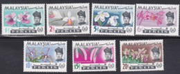 Malaysia, Perlis, Scott #40-46, Mint Hinged, Orchids, Issued 1965 - Malaysia (1964-...)