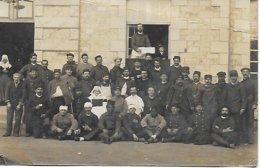 VILLEDIEU LES POELES - RARE CARTE PHOTO HOPITAL MILITAIRE COMPLEMENTAIRE GUERRE 1914 1918 WW1 MILITARIA POSTEE EN 1914 - Villedieu