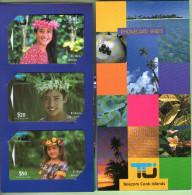 Cook Islands - 1995 Second Issue - Ei Katu Set (3) - COK3/65 - Mint In Folder - RARE - Islas Cook