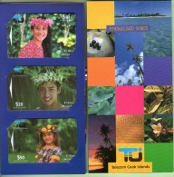 Cook Islands - 1995 Second Issue - Ei Katu Set (3) - COK3/65 - Mint In Folder - RARE - Isole Cook