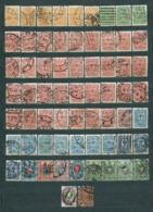 Rusia Empire,1908; Lot Of 65 Used Stamps: MiNr 63, 64, 65, 67, 68, 69, 70, 71, 72, 73, 75, 76; Some Nice Postmarks - 1857-1916 Empire