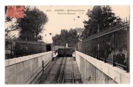CPA 75 PARIS 12e Métropolitain Station MAZAS AUSTERLITZ Quai De La Rapée 1906 Ed. J.H. Rames De Métro - District 12