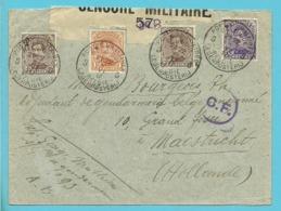 135+136+139 Op Brief PMB 5 Naar Maastricht (Holland) Strookje CENSURE 57 +  C.F. (Folkestone) - Army: Belgium
