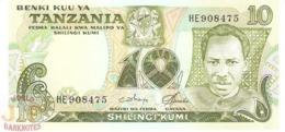 TANZANIA 10 SHILINGI 1978 PICK 6c UNC - Tanzania
