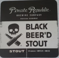 BAHAMAS :  5 Beer Coasters  From PIRATE REPUBLIC Brewery Nassau , VERY RARE - Beer Mats