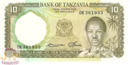 TANZANIA 10 SHILINGI 1966 PICK 2e UNC - Tanzania