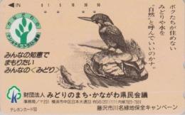 TC Japon / 110-011 - Animal - OISEAU MARTIN PECHEUR & POISSON - KINGFISHER BIRD & FISH Japan Phonecard - 4507 - Autres
