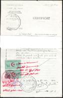 Algérie - Fiscaux Sur Copie De Ceerticat Légalisé. (Document Plié En 2 Dans Le Sens De La Largeur) - Algerien (1962-...)