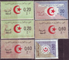Algérie - Lot De 6 Timbres Fiscaux Usagés. - Algerien (1962-...)