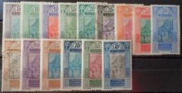 R3586/1242 - 1922 - COLONIES FR. - GUINEE - SERIE COMPLETE - N°84 à 98 NEUFS*/(*)/☉ - Französisch-Guinea (1892-1944)