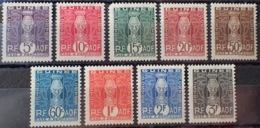 R3586/1247 - 1914 - COLONIES FR. - GUINEE - TIMBRES TAXE - N°26 à 35 (sauf N°30) NEUFS* - Französisch-Guinea (1892-1944)