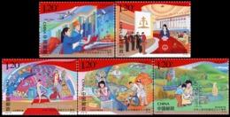 China 2019-23 70th Anniversary National Day Stamps 5v - 1949 - ... Repubblica Popolare