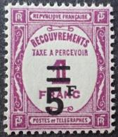 R1615/1228 - 1929 - TIMBRE TAXE - N°65 NEUF** - BON CENTRAGE - Cote : 180,00 € - Taxes