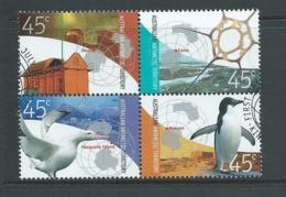 Australian Antarctic Territory 2002 Stations & Bases Set 4 In Block Se Tenant FU Kingston Cds - Used Stamps