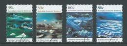 Australian Antarctic Territory 1989 Nolan Painting Of Ice Formations Set 4 VFU - Unused Stamps