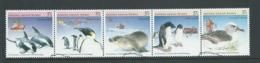 Australian Antarctic Territory 1988 Fauna Strip Of 5 VFU Australian Cds - Australian Antarctic Territory (AAT)