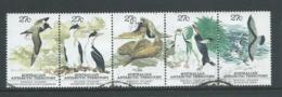 Australian Antarctic Territory 1983 27c Fauna Strip Of 5 FU Australian Cds - FDC