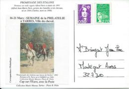 - CPM 65 - Premenade Des Etalons à Tarbes Avec Une Vignette Semaine De La Philatelie - Tarbes