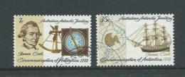 Australian Antarctic Territory 1972 Captain Cook  Anniversary Set 2 FU - Used Stamps