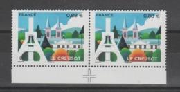 """FRANCE / 2019 / Y&T N° 5345 ** : """"Touristique"""" (Le Creusot - Saône-et-Loire) X 2 Tous BdF Bas + Croix De Centrage - Unused Stamps"""