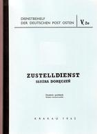 ArGe Generalgouvernement: Zustelldienst; Dt-Poln; Dienstbehelf, Nachdruck, H26 - Occupation 1938-45