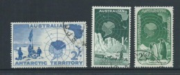 Australian Antarctic Territory 1957 - 1961 Pre Decimals 1/- 2/- & 2/3 High Values FU - Australian Antarctic Territory (AAT)