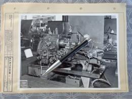 65 TARBES PHOTO ORIGINALE USINE ALSTOM ALSTHOM INTERIEURE MACHINE Semi Automatic LATHE 18 X 24 CM - Luoghi