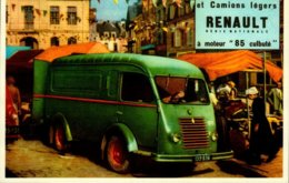 LES CAMIONNETTES ET CAMIONS LEGERS RENAULT.....CPM ANIMEE - Camions & Poids Lourds