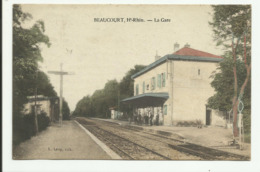 Cpa BEAUCOURT , La Gare   , Animée - Frankreich