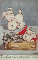 """Hund, Korb"" 1952, Sig. P.A.M. ♥  - Hunde"
