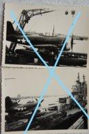 Photox2 SEAPLANE Hydravion CURTISS SC-1 Seahawk US NAVY Cruiser HOUSTON Antwerpen 1946 Pin Up The Outlaw - Aviation