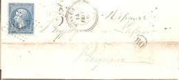 """INDRE ET LOIRE (36) LAC De MONNAIE (PERLE ) GC 2407 Sur NAP + """"OR"""" NEUILLY (NEUILLE ) LE LIERRE Pour PERIGUEUX - Marcophilie (Lettres)"""