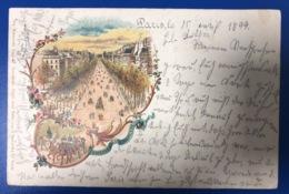 1899 Litho Paris Boulevard De La Madeleine - France