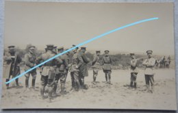 Photo ABL Officiers Belges Infanterie Circa 1925 Manoeuvre Porte Carte Uniforme Militaria Belgische Leger - Oorlog, Militair