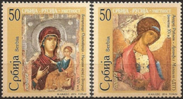 Serbia, 2010, Joint Issue Serbia - Russia - Icons , Set, MNH, Mi# 358/59 - Serbie
